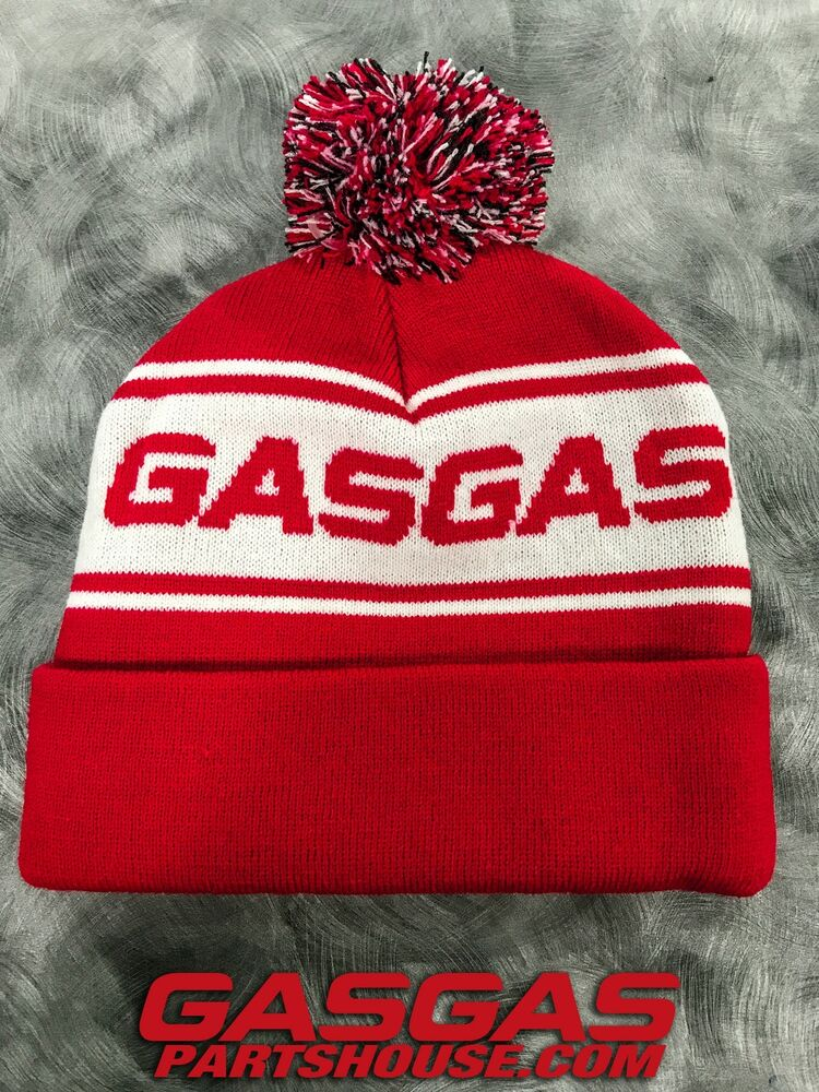 Details about GASGAS MOTORCYCLE BEANIE HAT STOCKING CAP W  BALL GAS GAS  MOTO EC XC GP TXT RED d75e2029c17