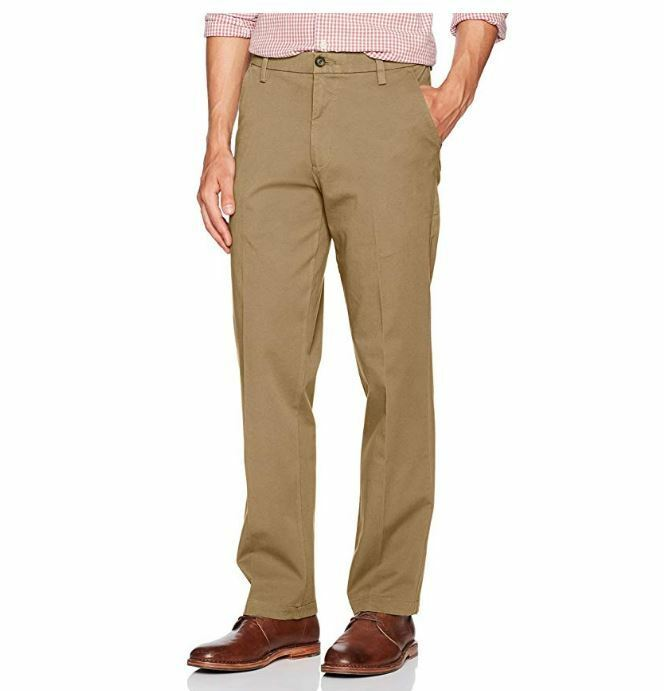 497837321406d4 Details about New Dockers Men's Straight Fit Workday Khaki Pants with Smart 360  Flex W32XL32