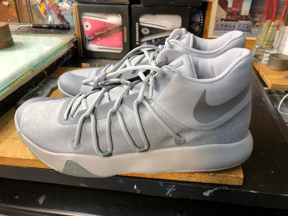 acb31f2523cf Details about Nike KD Trey 5 V Wolf Grey Cool Grey Size US 11.5 Men s  897638 011 Kevin Durant