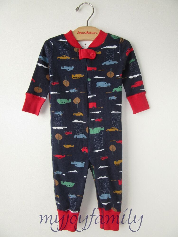 Details about HANNA ANDERSSON Baby Organic Zip Sleeper Day Tripper Cars  Navy 70 9-12 month NWT 7bc9b4460