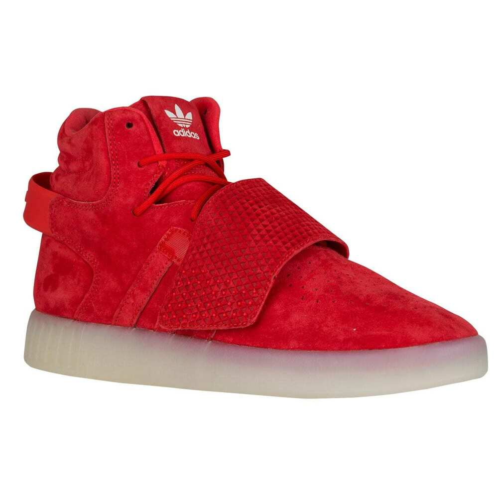 4eb6d3e056d154 Details about adidas Mens Tubular Invader Hi Top Athletic Red Suede  Basketball Shoes BB5039