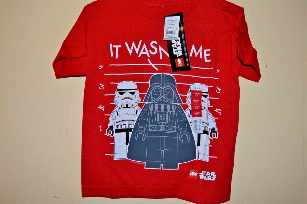 5f24f0a5 Details about LEGO STAR WARS/VADER/TROOPERS-BOYS SIZE 6/7 thru 10/12-LICENSED  SHORT SLEEVE-NWT