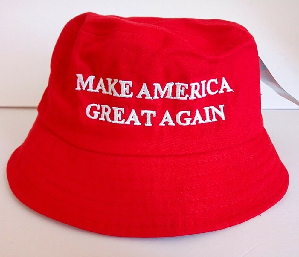 056299a5fa691 Details about MAGA President Donald Trump Make America Great Again Hat Red Bucket  Hat