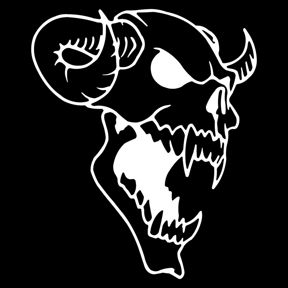 Details about demon skull evil face rear car truck window wall laptop vinyl decal sticker