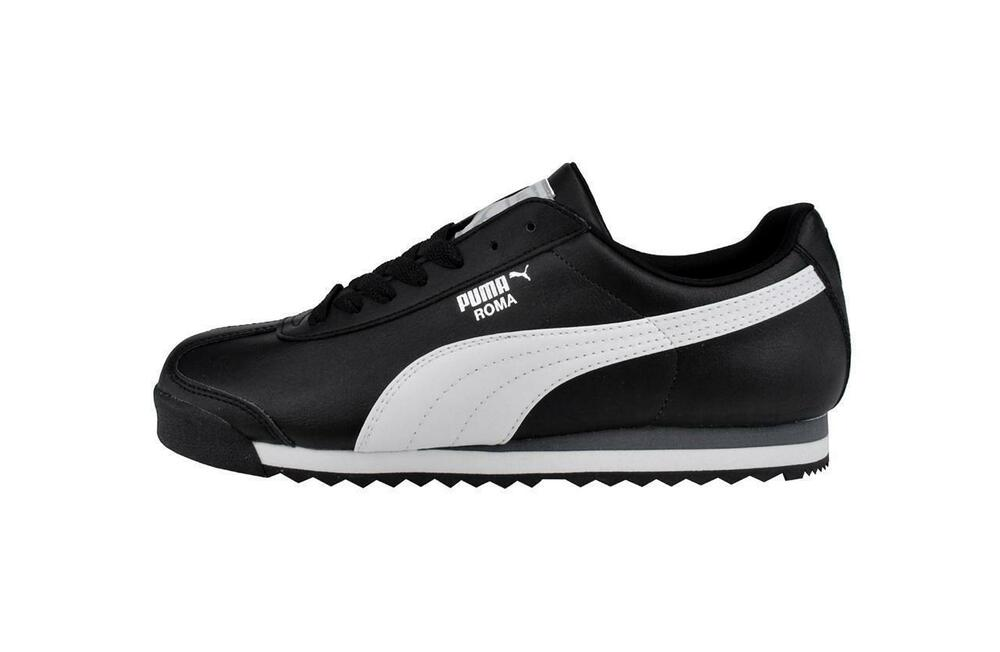 6846f7f0384 Details about PUMA Roma Basic Shoes Synthetic Black White Classic Men  Sneakers 353572-11