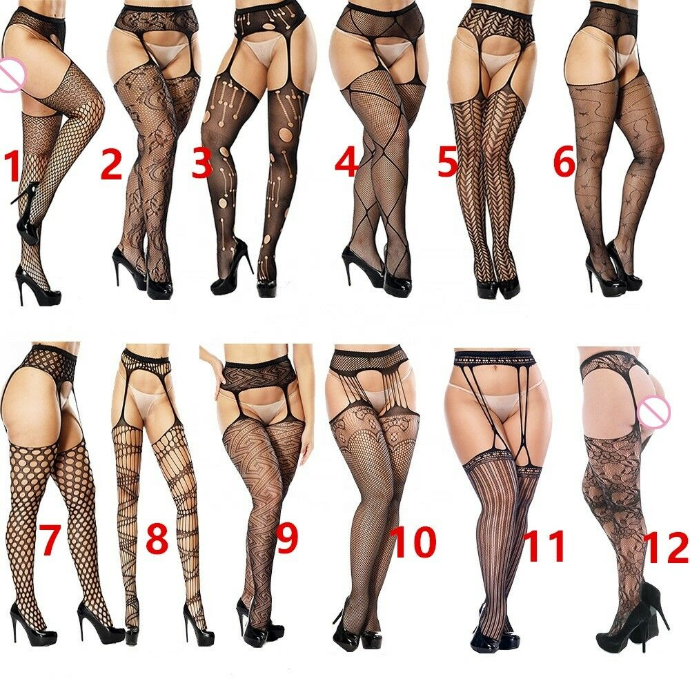 4794df1230556 Details about Women Lady Suspender Tights Stocking Fishnet Pantyhose Lace Stockings  Sexy
