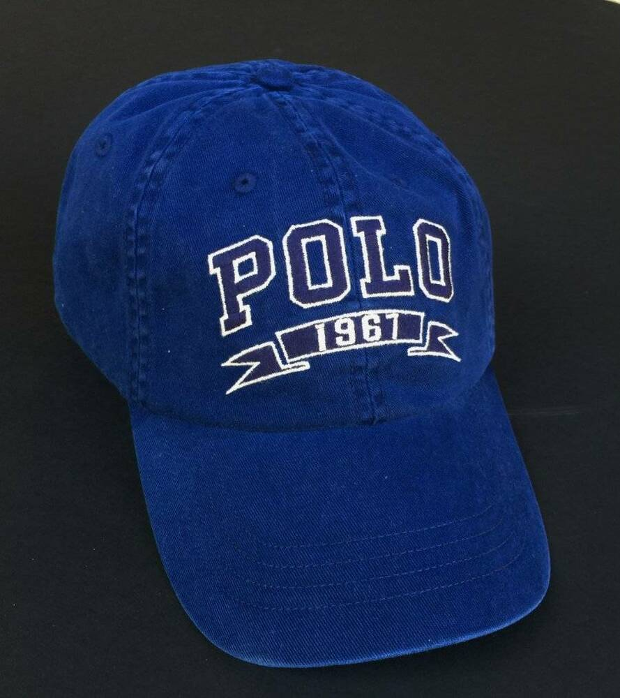 0e0d8003334 Details about Ralph Lauren Polo Polo Baseball Embroidered 1967 Chino Hat Cap  One Size NEW