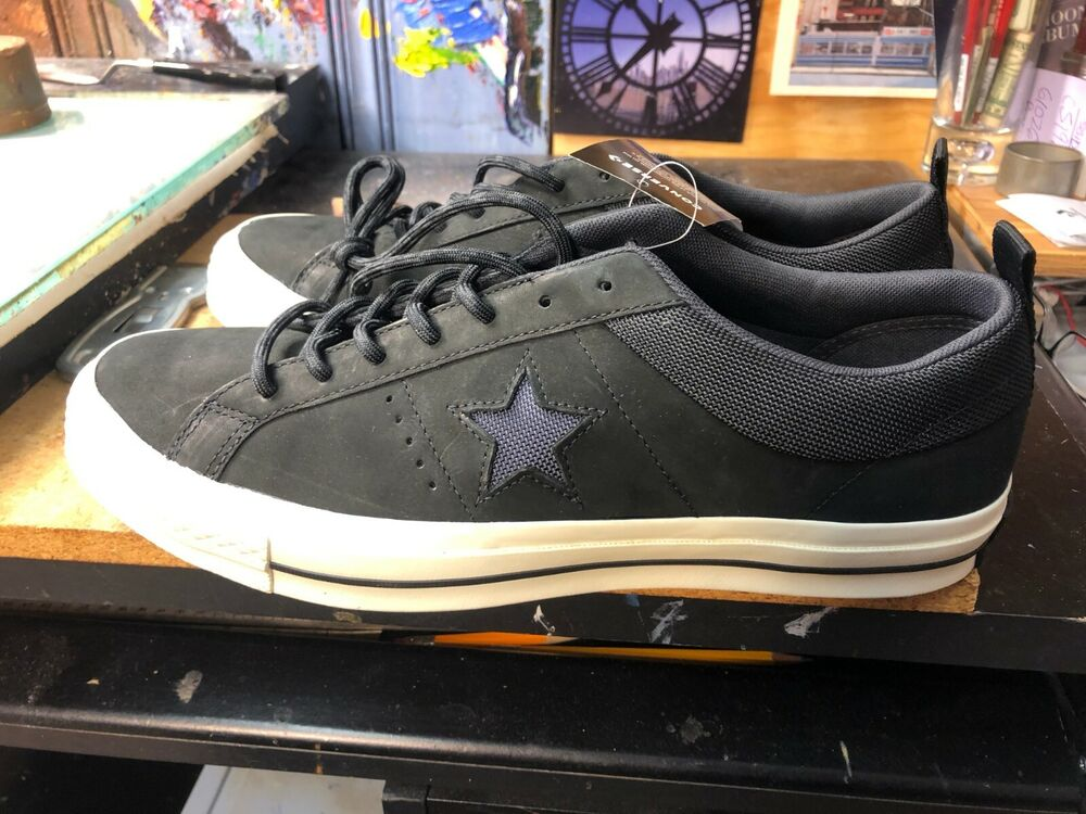 36a550b9ac61 Details about Converse One Star OX Black Leather Size US 11.5 Men 162545C  New