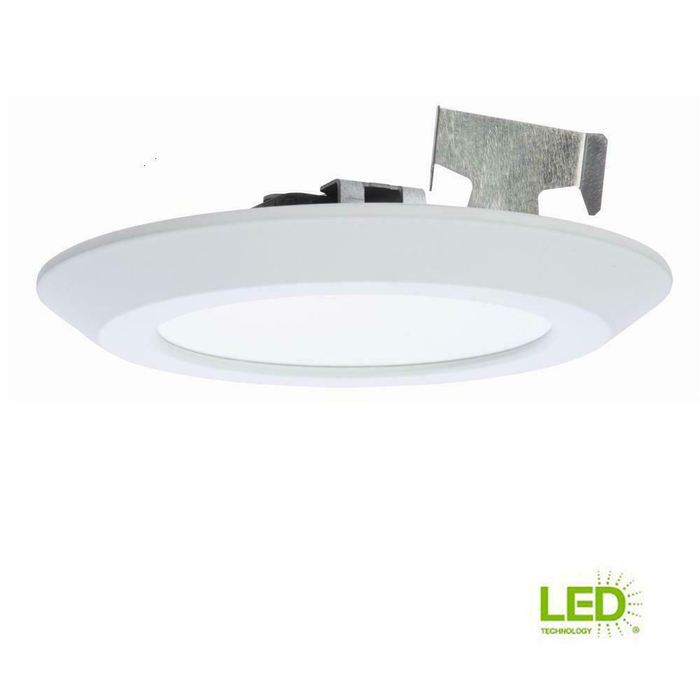 Halo 5 in 6 in matte white led recessed surface mount trim sld606830whr 11285000050 ebay