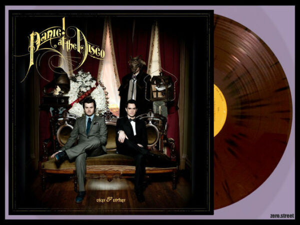 PANIC AT THE DISCO Vices and Virtues LP MAROON/BLACK SPLATTER VINYL New SEALED