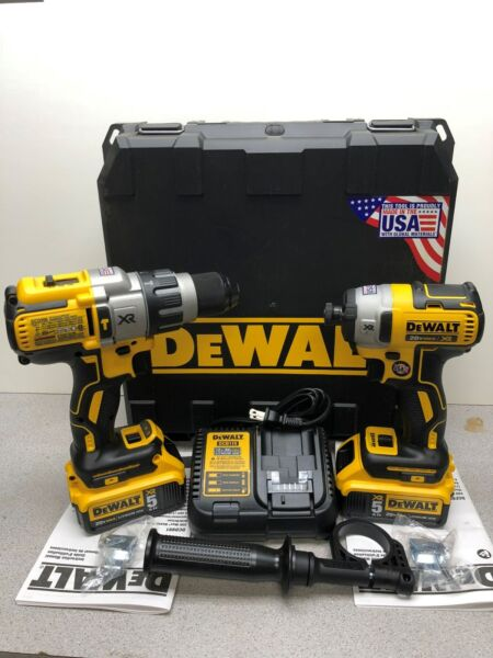 DEWALT 20V MAX XR Lithium-ion Brushless Hammerdrill and Impact Driver Combo Kit