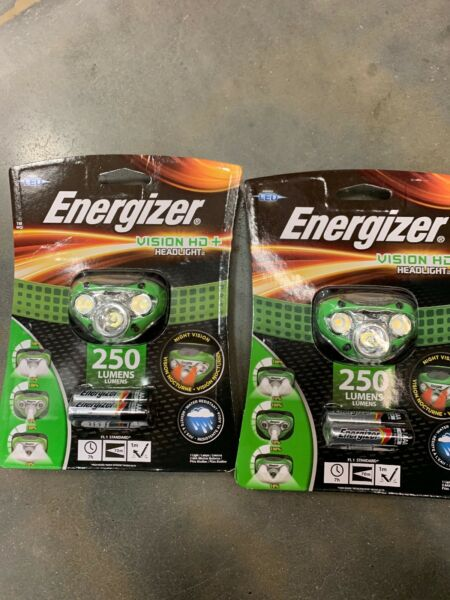 Energizer HDC32E Vision HD  LED Headlamp X 2 (2 headlamps new with batteries)