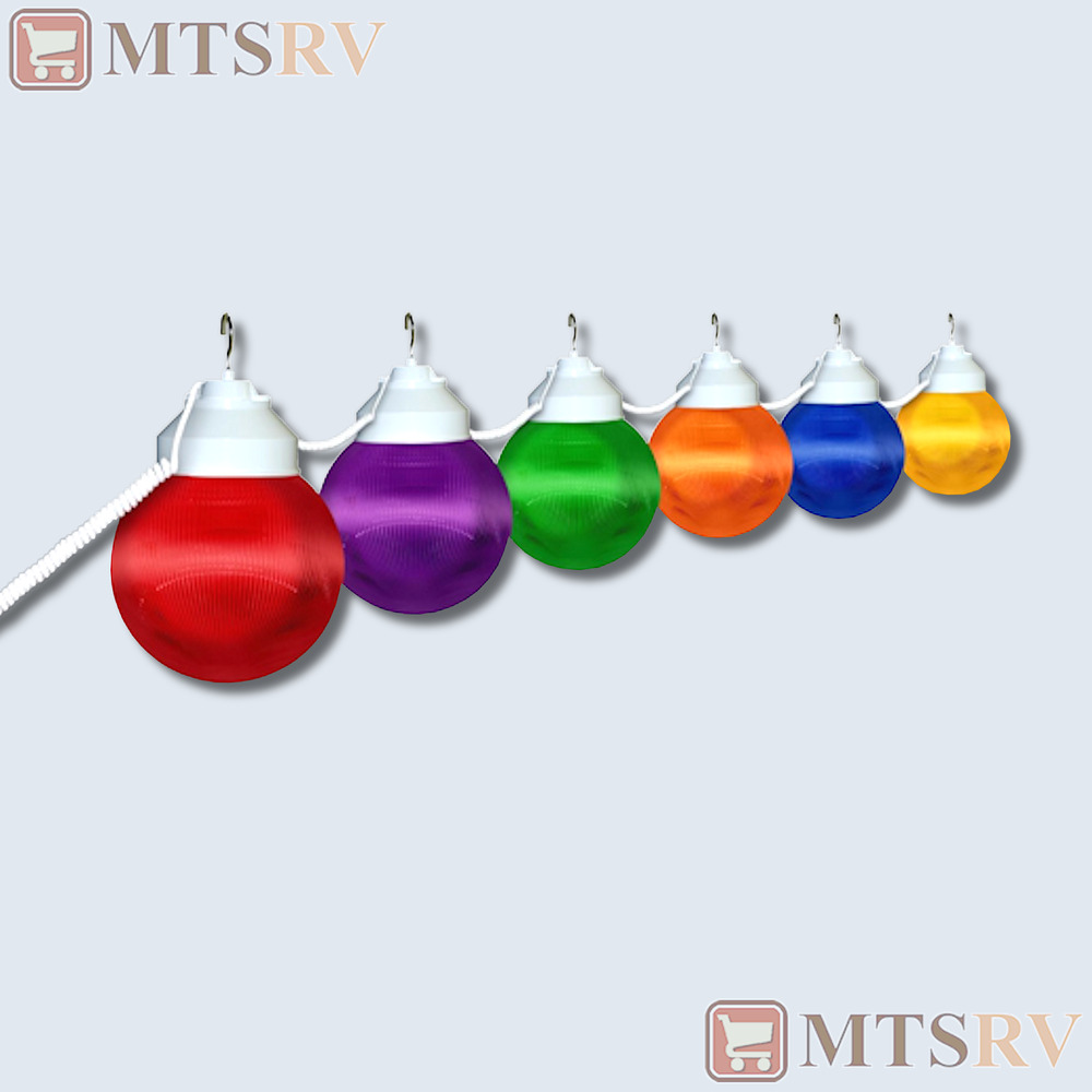Polymer Awning RV Party Patio Globe String Lights - MULTI ...
