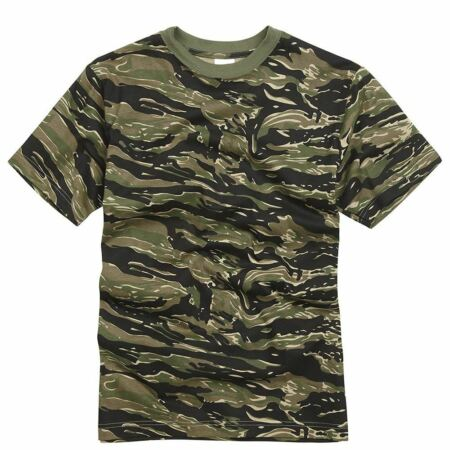 img-Mens Army Military Style T shirts Cotton Tee Short Sleeve Top Tiger Stripe Camo