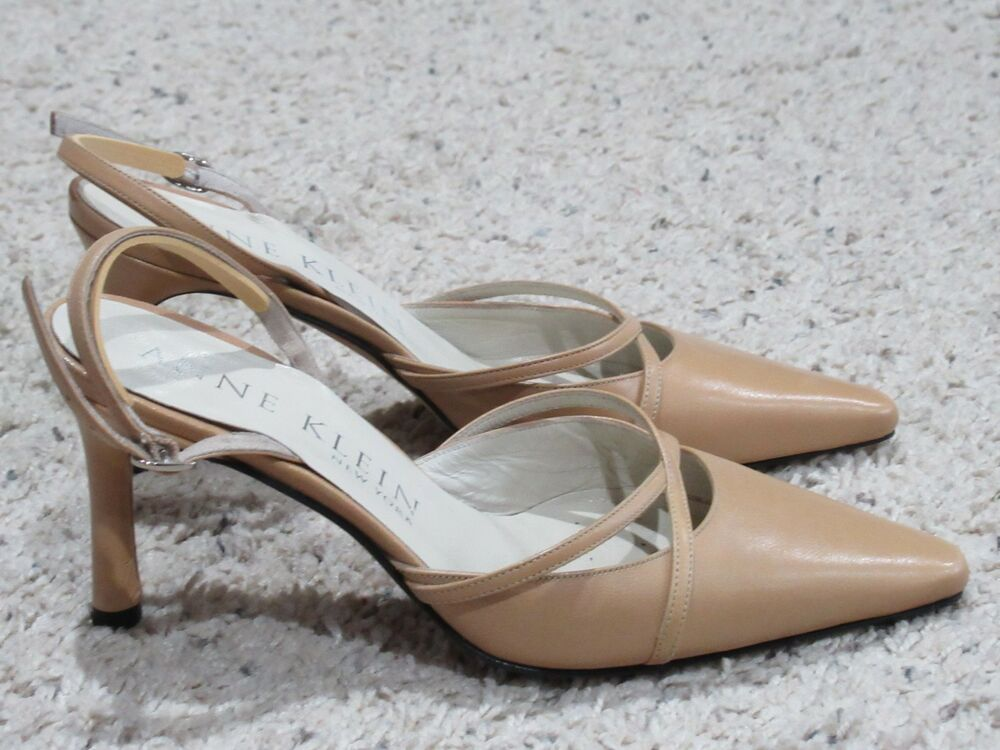 0af7910beb2e Details about Anne Klein Womens Classic Slingback Heels Shoes 5 Excellent