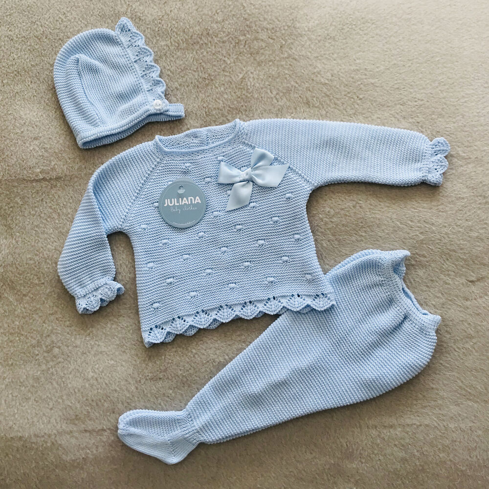 f4c53ff86 Details about Newborn Outfit Baby Boy Outfit Knitted Outfit Spanish  Knitwear Knitted Outfit