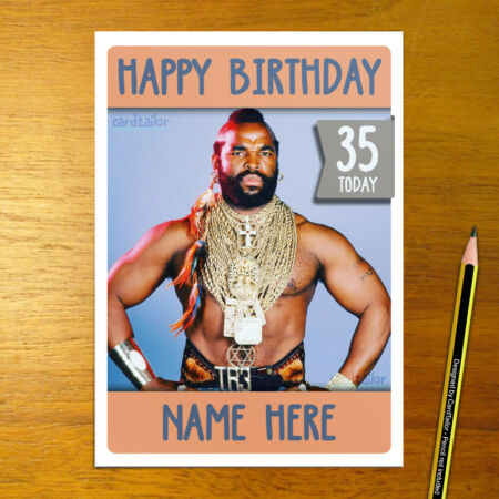 img-MR T Personalised Birthday Card - large A5 mr.t the a team a-team