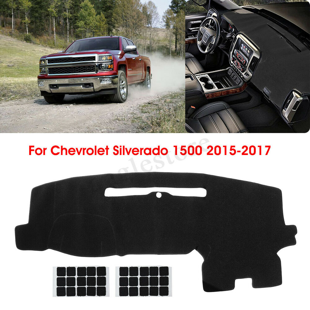 Details About Dashboard Cover Dashmat Dash Mat Protector For Chevy Silverado 1500 2017 Us