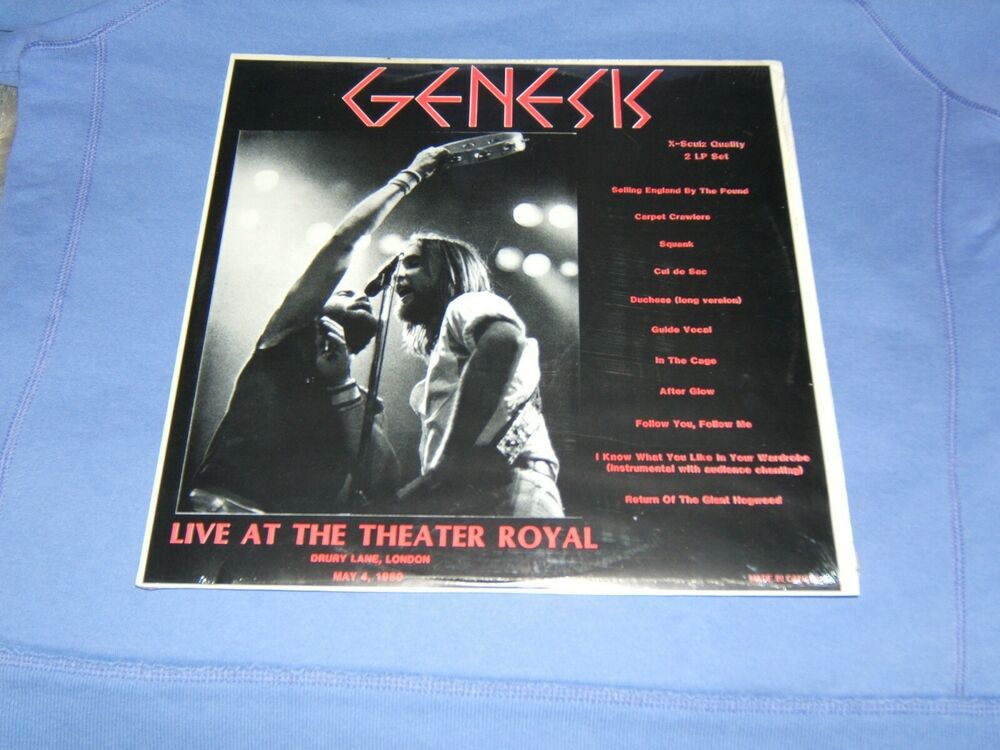 GENESIS - LIVE AT THE THEATER ROYAL, LONDON W/ PHIL COLLINS RARE/ MINT 2  LP'S ! | eBay