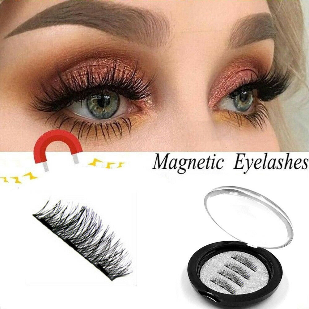 15e8528a530 Details about Magnetic 3D Eyelashes Handmade Reusable False Magnet Eye  Lashes Extension Makeup