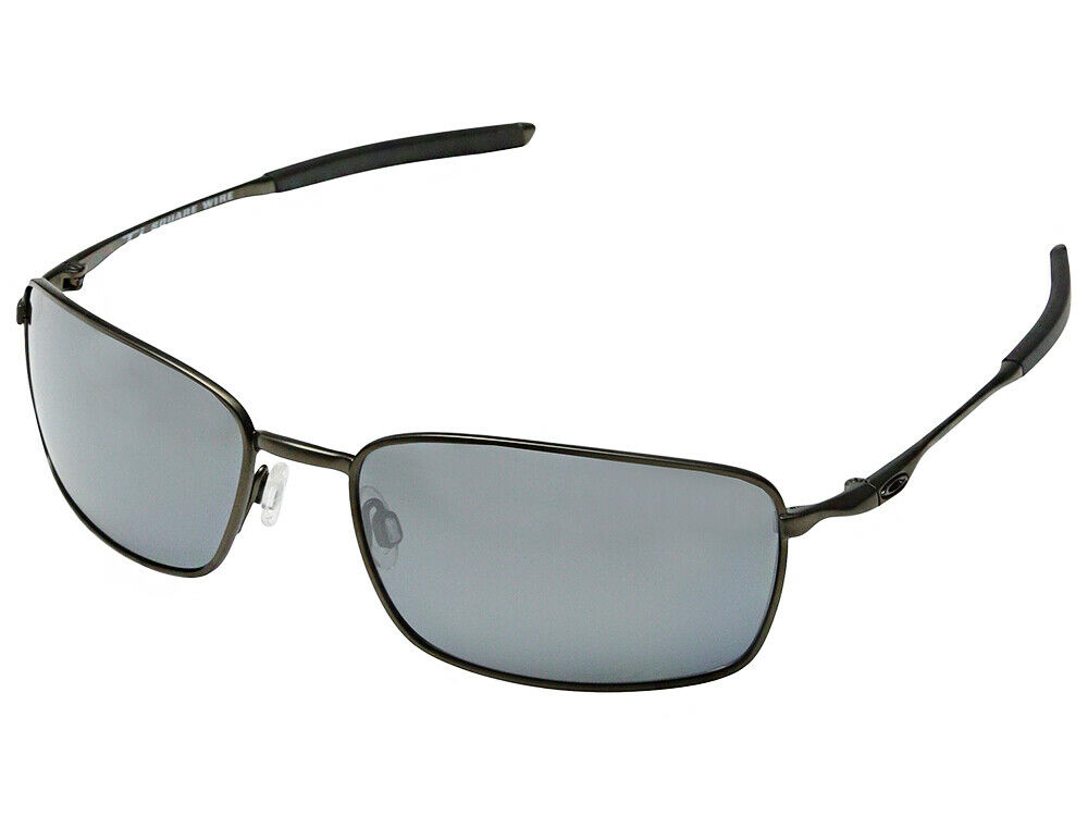 151087b97d Oakley Ti Square Wire Polarized Sunglasses OO6016-02 Pewter Black Iridium