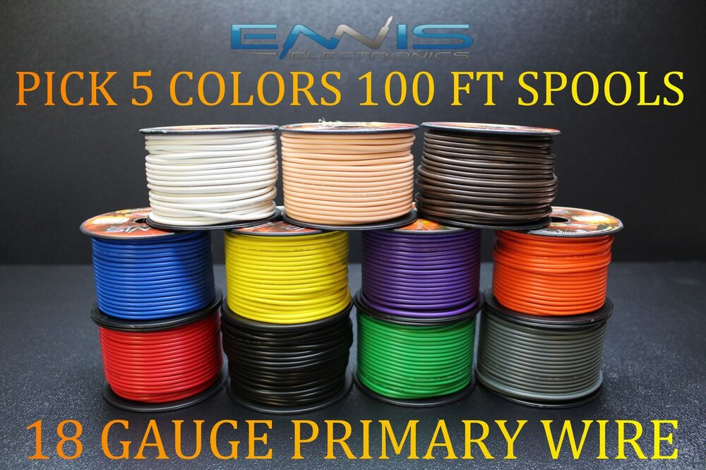 14 GAUGE WIRE WHITE BY ENNIS ELECTRONICS 100 FT SPOOL