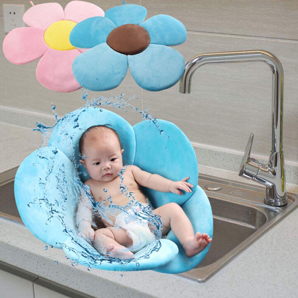Baby Bath Tub Toddler Safety Foldable Soft Flower Petal