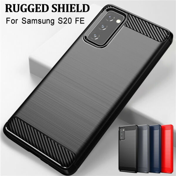 For Samsung Galaxy A50 A70 A40 A30 A20 A10 New Carbon Fiber Soft TPU Case Cover