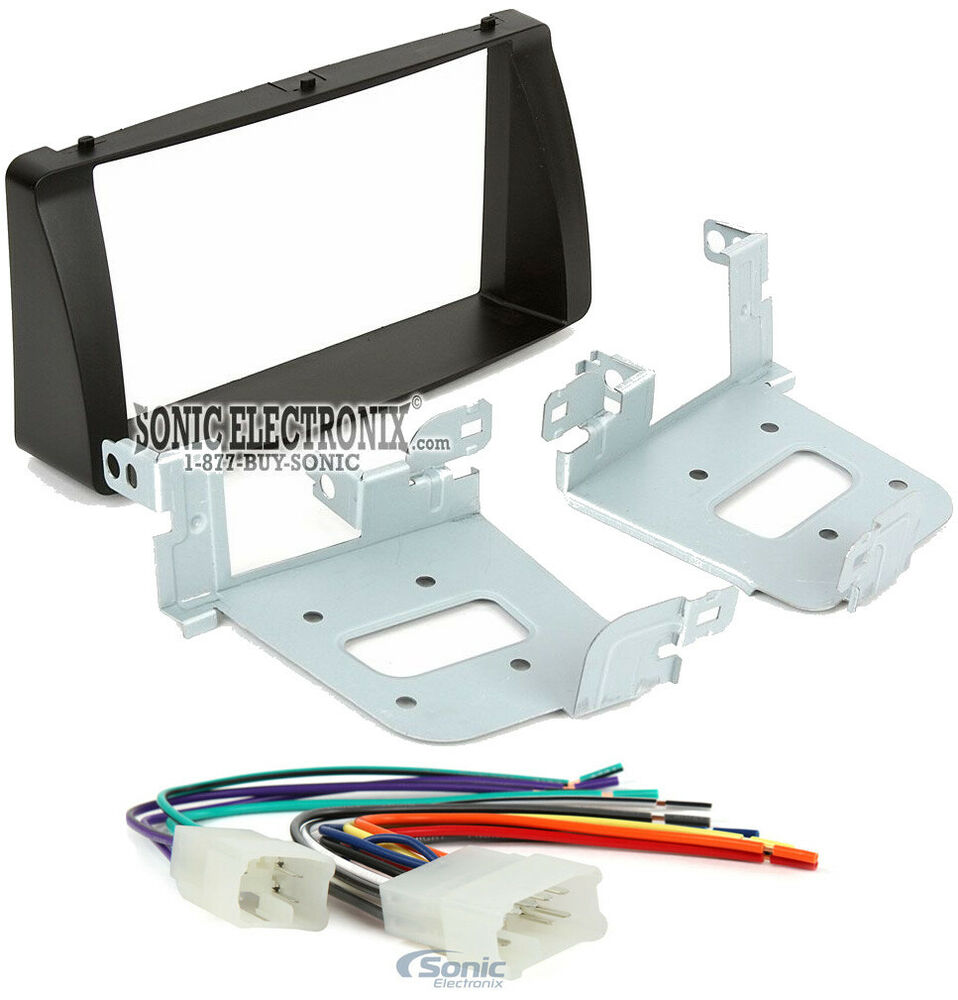 Double 2 Din Car Stereo Radio Install Dash Kit W   Harness