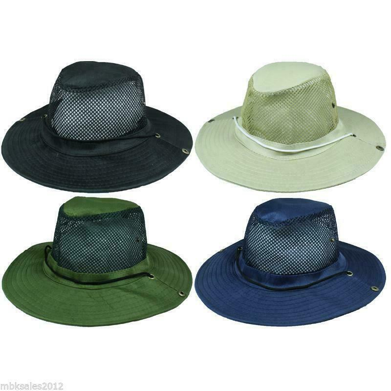 119a160ca80 Details about 120 Plain Boonie Hats Solid Color Mesh Fishing Summer Hat w   Snaps WHOLESALE LOT