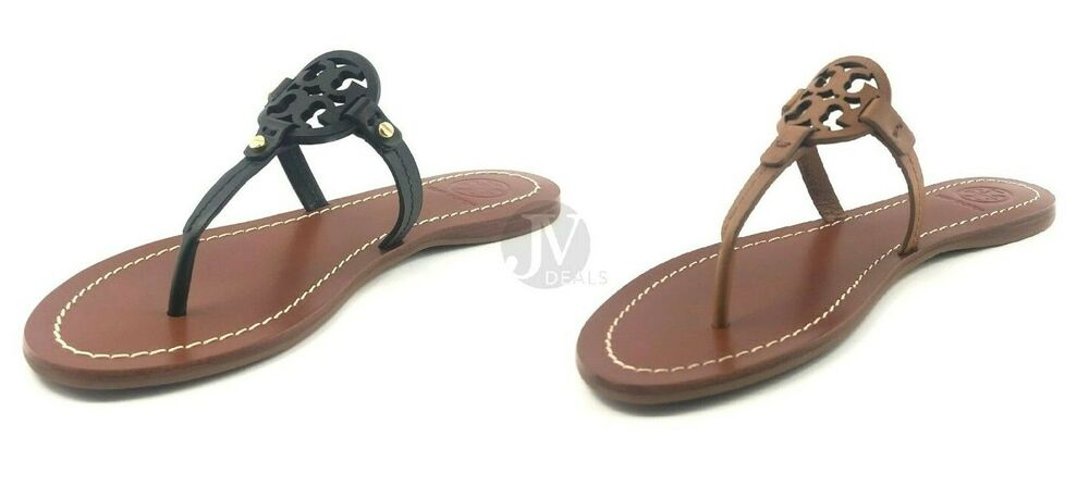4b8b60c02f267 Details about BRAND NEW WOMEN S TORY BURCH (32340) MINI MILLER FLAT THONG  LEATHER SANDAL SHOES