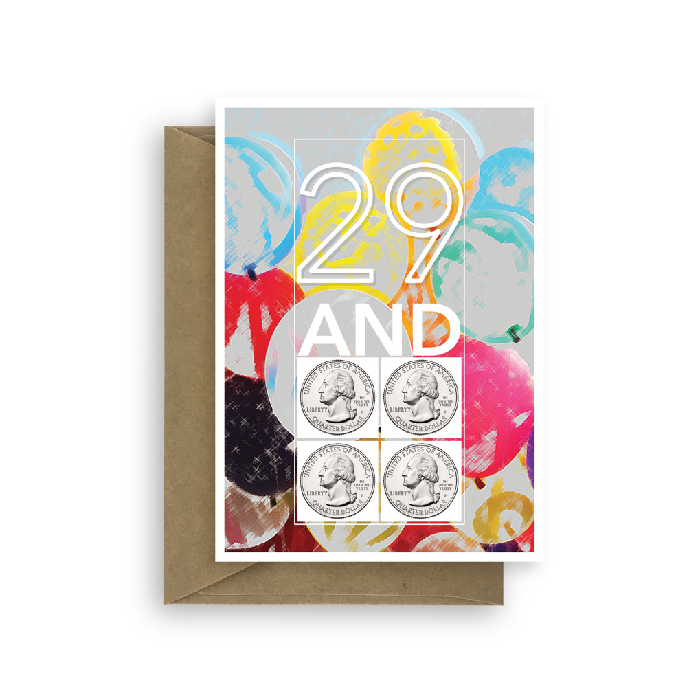 Details About Funny 30th Birthday Card For Him Her 29 And Four Coins 30 Bday