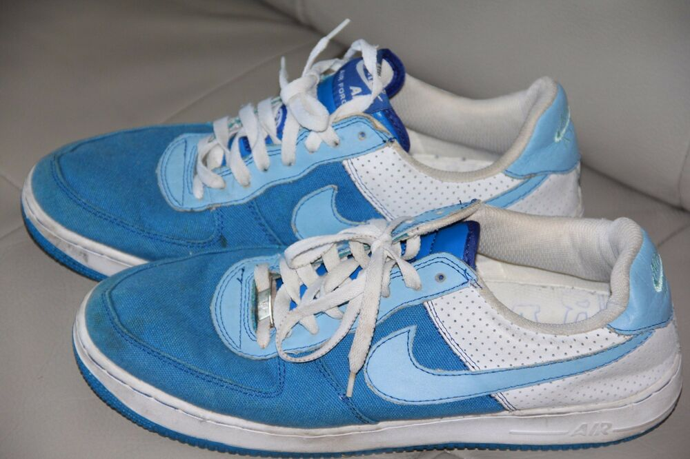 new product a87a7 26d66 Details about Nike Air Force AF-1, 82 Mens Casual Shoes Athletic Blue  Fashion Sneakers Size 12