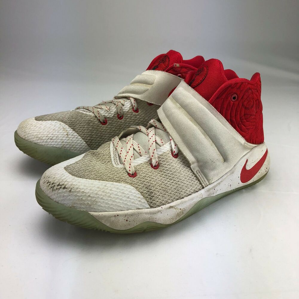 release date: 836dd 82bf9 Details about Nike Kyrie 2 GS Touch Factor Boys Shoes White   Red  826673-166 Size 7Y
