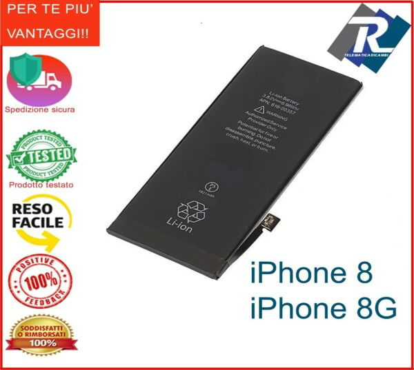 Batteria Compatibile per Apple iPhone 8 - 8G 1821 mAh  sostituisce originale