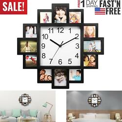 Kyпить Photo Frame Clock Picture Collage 12-P Display Wall Clock Photowall Home Decor на еВаy.соm