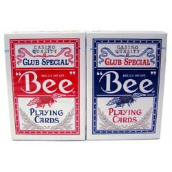 Kyпить Bee Standard Index Poker Playing Cards Casino Quality Red And Blue 1 Deck by Bee на еВаy.соm