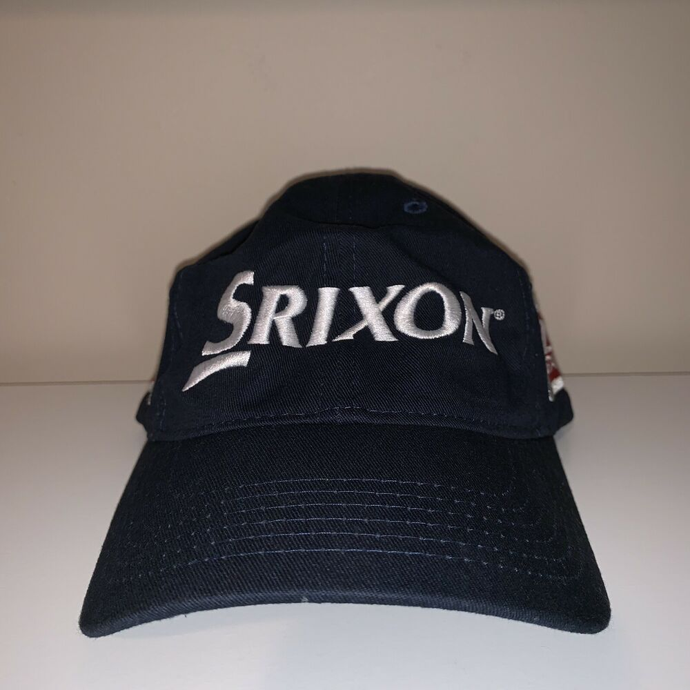 ae022624a41 Details about SRIXON Navy Blue Strapback Hat Golf Apparel One Size Fits All  Cap