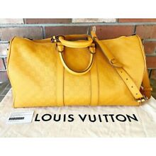 a25caa0dfe83 Louis Vuitton Keepall Bandouliere Bag Damier Infini Leather 45 in Yellow