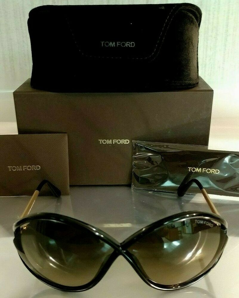 67397d9d95a50 Authentic Tom Ford Liora TF528 528 Sunglasses Black   Gold 01B 70 5 120 2  2-1.7