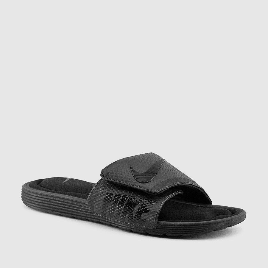 7ce29b07d Details about NEW MENS 8 9 14 NIKE SOLARSOFT COMFORT SLIDES SANDALS GREY  GRAY BLACK 705513