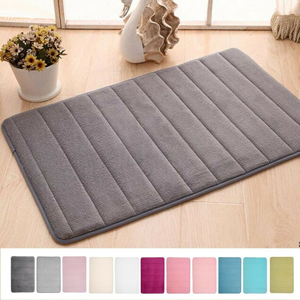 Memory Foam Non Slip Bathroom Bath Mat Bedroom Shower