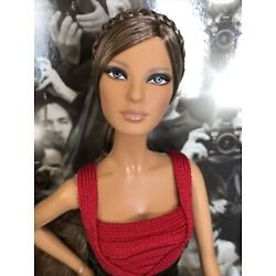 Herve Leger By Max Azria Designer Barbie Doll With Boots, Clutch Bag & COA