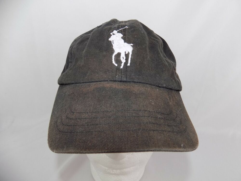 a8c4649106a Details about Polo Ralph Lauren Big Pony MCMLXVII Black Hat   3 Cap