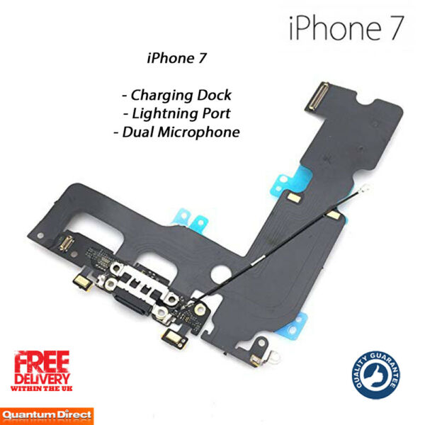 NEW iPhone 7 Lightning Port / Charging Dock / Dual Microphone Replacement BLACK