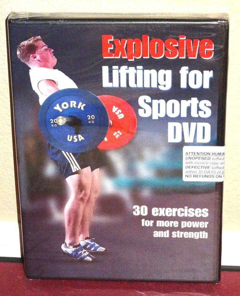 *New* Explosive Lifting for Sports DVD 30 Exercises for More Power and  Stregnth 809883602499 | eBay
