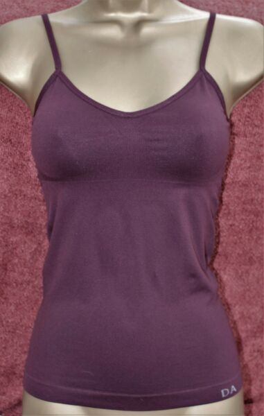 Control Camisole Vest Shapewear Strappy Top Seamless Slimming 10-12