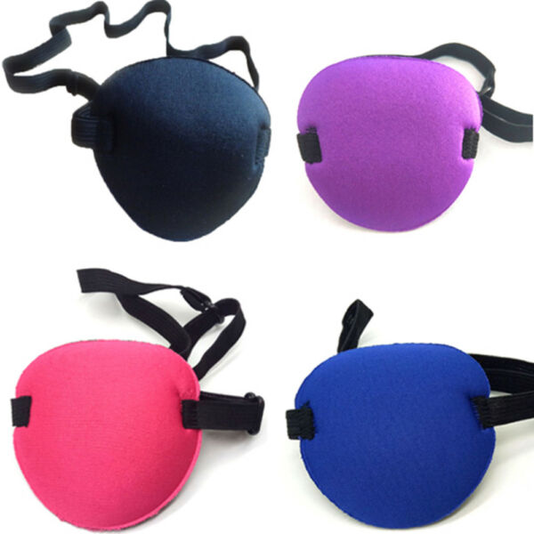 Concave eye patch goggles foam groove washable eyeshades adjustable strap ran RD