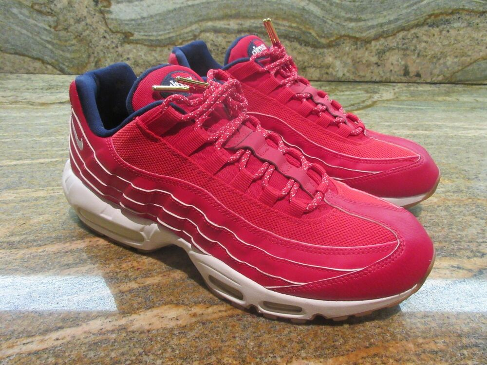 2d5514ee861 Details about Nike Air Max 95 Premium SZ 9.5 Red Independence Day 4th of  July USA 538416-614