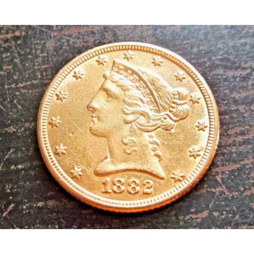 nice-1882s-gold-5-liberty-head-half-eagle-coin-834-grams